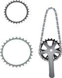 Цепное колесо велосипеда Стоковое Фото
