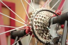Цепное колесо велосипедов припаркованных на парке Стоковые Изображения RF