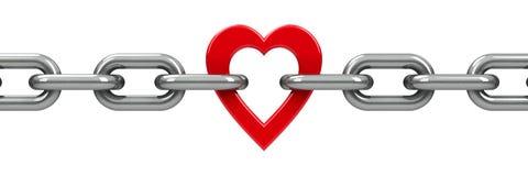 цепное сердце Стоковые Изображения