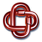 цепное соединенное всеединство красного цвета соединений совместно Стоковое Изображение RF
