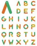 Цепной алфавит в плоском дизайне Стоковые Изображения