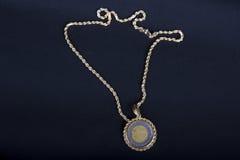 цепной грек золота монетки Стоковая Фотография RF