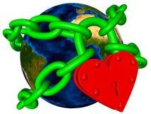 цепной мир зеленого цвета экологичности принципиальной схемы Бесплатная Иллюстрация