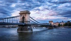 Цепной мост - Будапешт - Венгрия стоковое изображение