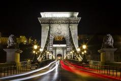 Цепной мост в Будапеште Стоковая Фотография