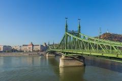 Цепной мост над Дунаем, Венгрией стоковая фотография