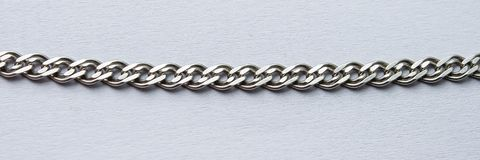 цепной серебр Стоковая Фотография RF