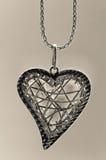 цепной серебр pedant сердца Стоковое Изображение RF