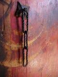 цепной утюг ручки двери Стоковая Фотография