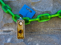 цепной padlock Стоковые Изображения