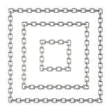 Цепные квадраты изолированные на белой предпосылке Стоковая Фотография RF