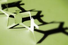 цепные люди зеленой бумаги Стоковая Фотография
