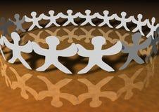цепные соединенные люди Стоковая Фотография RF