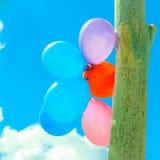 Цепь воздушного шара в небе Стоковое Изображение RF
