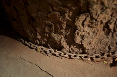Цепь вокруг ствола дерева Стоковая Фотография RF