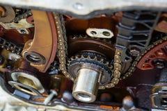 Цепь времени автомобиля Стоковые Изображения RF