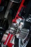 Цепь в моторе Стоковая Фотография