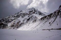 Цепь горы ледника Chalaadi стоковое фото rf