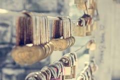 Цепь замка влюбленности Стоковое фото RF