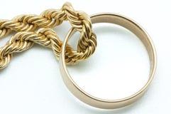 Цепь золота Стоковые Фотографии RF
