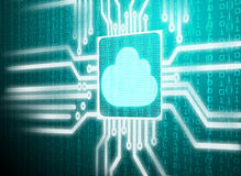 Цепь матрицы экрана Lcd символа облака Стоковое Изображение