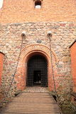 Цепь на стробе замка Trakai в Vilni Стоковые Изображения RF