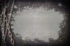 Цепь на металле ржавчины Стоковое Изображение