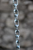 Цепь нержавеющей стали с припаянными связями Стоковые Фото