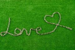 Цепь пишет влюбленность Стоковое Изображение