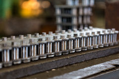 цепь Продукция цепей Цепь в manufacturin Стоковая Фотография RF