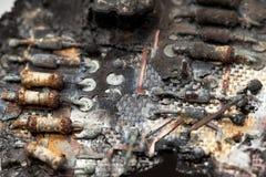 цепь сгорели доской, котор электронная Стоковая Фотография