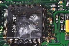 цепь сгорели доской, котор Стоковая Фотография RF
