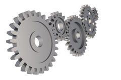 Цепь шестерни Cogwheel на белой предпосылке Стоковое Изображение RF
