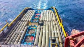 Цепь шланга экспорта вне на корабле Стоковое Изображение