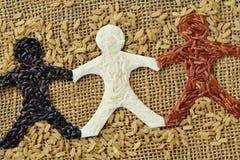 Цепь людей риса Стоковые Фотографии RF