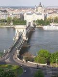 цепь budapest моста Стоковое Изображение