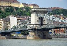 цепь budapest моста Стоковые Изображения