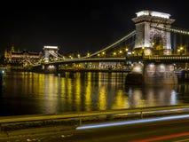 цепь budapest моста Стоковое фото RF