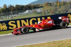 ЦЕПЬ MUGELLO, ИТАЛИЯ - ОКТЯБРЬ: Sebastian Vettel, Scuderia Феррари F1 Стоковая Фотография RF