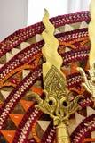 Церемониальное латунное копье Стоковые Фото
