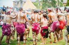 ` Церемонии старого изготовленного на заказ ` куря среди индигенных австралийцев которое включает горящие заводы для того чтобы п стоковое изображение
