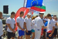 Церемония вручения премии конкуренции заплывания Стоковая Фотография RF