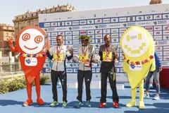 Церемония вручения премии 3 победителей марафона 2016 Рима Стоковое Изображение RF