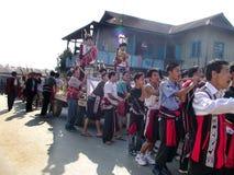 церемония вытягивая ратников Стоковое Изображение
