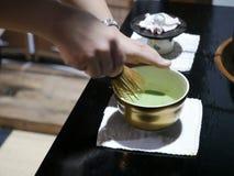 Церемония зеленого чая Matcha Стоковые Изображения RF