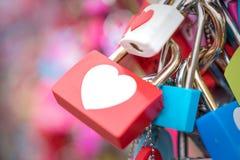 Церемония ключа влюбленности на башне n Сеула в городе Сеула, Корее Положение Стоковое Изображение
