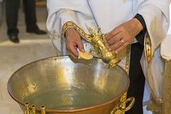 Церемония крещения стоковые изображения