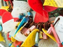 Церемония ключа влюбленности на парке Yongdusan Стоковые Изображения