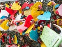 Церемония ключа влюбленности на парке Yongdusan Стоковое Фото