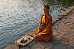 церемония около воды чая Стоковые Фото